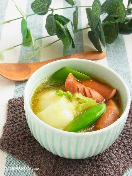 ソーセージとかぶのカレースープ