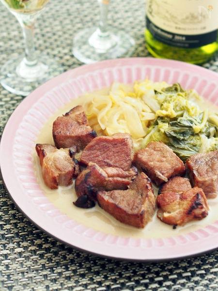 3. 塩豚と白菜の洋風煮込み