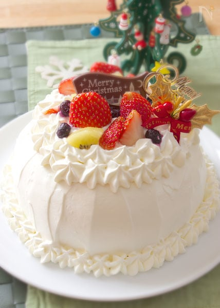 フライパンで作る★デコレーションホールケーキ