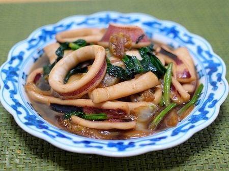 いかと白菜の生姜炒め