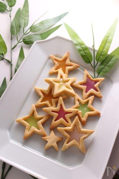 きらめくお星さまクッキー(キャンディークッキー)