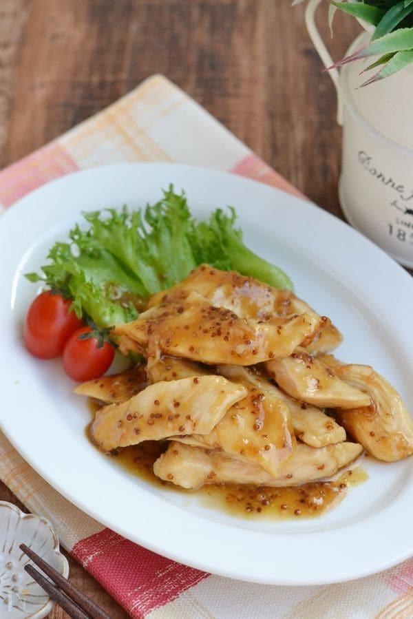 鶏むね肉のハニーマスタード焼き【作り置き】
