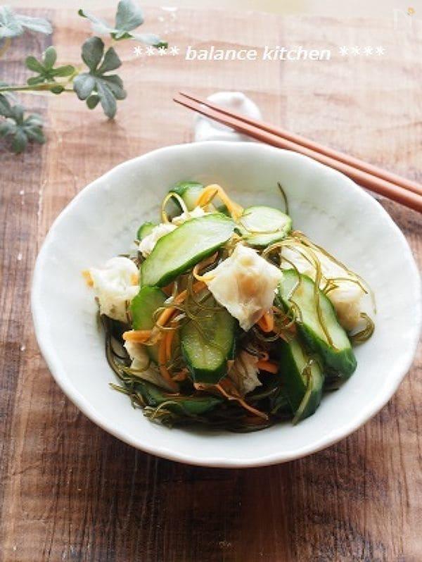 【常備菜】きゅうりとキャベツの漬物サラダ