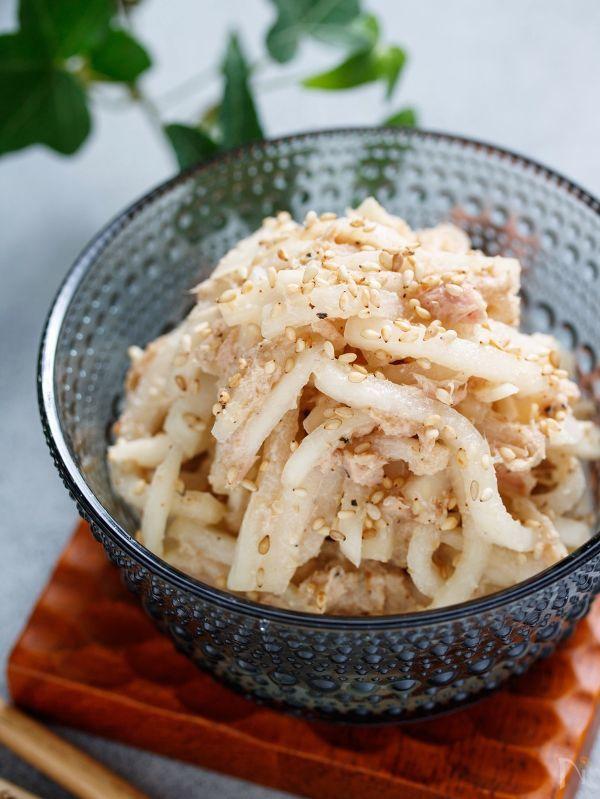大根とツナのシャキシャキサラダ【#大量消費 #ポリ袋】