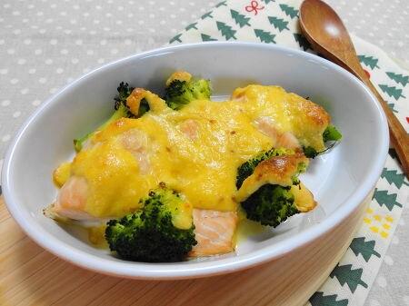 鮭の卵ソース焼き