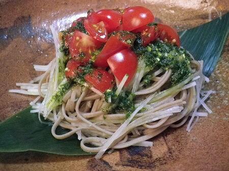 蕎麦 ◆SOBAサラダ◆ 和で楽しむバジルペースト