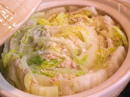 ◆塩麹鍋 白菜の鶏挽肉サンド◆作りやすいシンプルレシピ