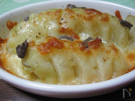 ◆ジャガイモのアンチョビーチーズ焼き◆圧力鍋でクイックレシピ