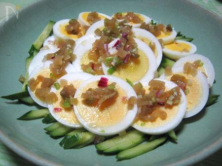 ◆ゆで卵のサラダ ザーサイドレッシング◆