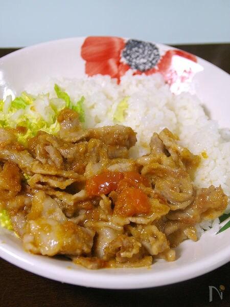 酸味が美味しい!豚肉のトマト生姜焼き