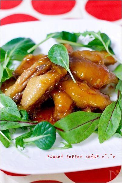 鶏スペアリブ(ミニスティック)のマーマレード煮vol1。