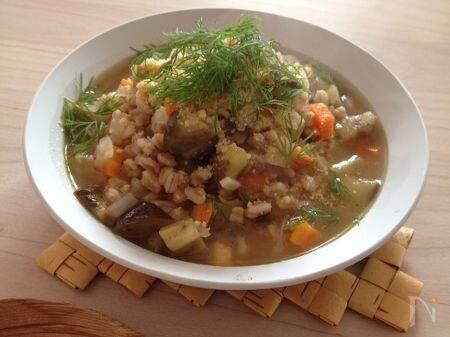 スペルト小麦のスープ