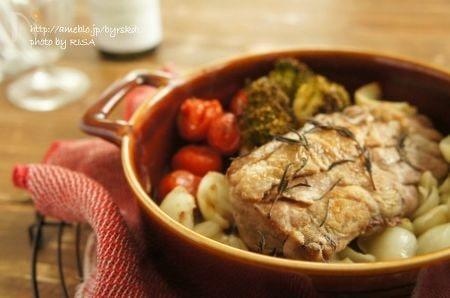 豚ひれ肉とゆり根のオーブン焼き