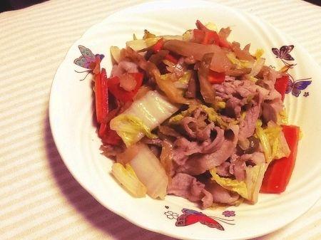 ザーサイと豚肉の中華炒め