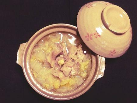 鶏の生姜鍋