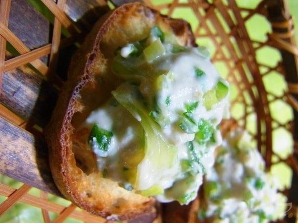 簡単ペースト3 セロリとオクラの和風カッテージチーズ