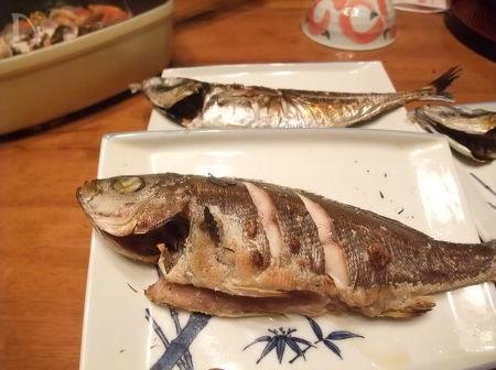 イサキとアジの塩焼き