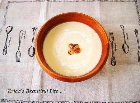 ほんのり甘い白菜豆乳ポタージュ。
