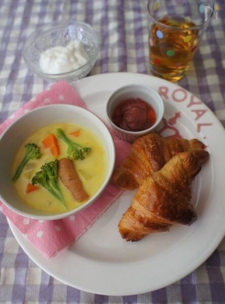 朝から野菜たっぷり!カレーミルクスープ