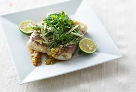 豚バラロール豆腐ステーキ
