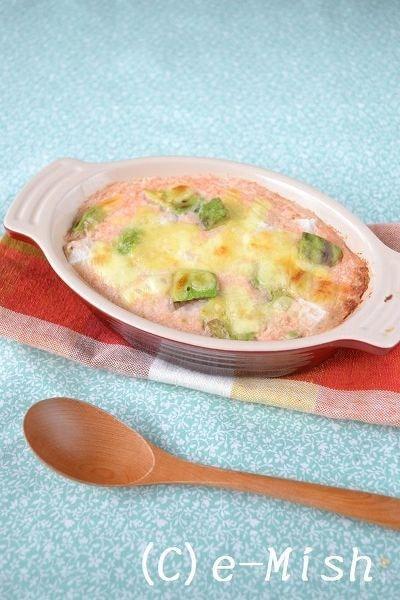 アボカドの長芋の明太クリームグラタン