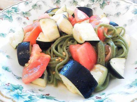 ナスとトマトの酵素たっぷりパスタ