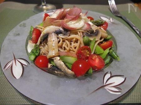 野菜たっぷり冷製パスタ