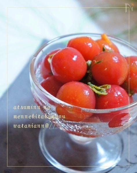 トマトの紫蘇ジンジャーマリネ