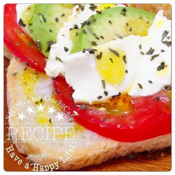 赤穂の天塩で作るイタリア料 カプレーゼ風塩パンオープンサンド