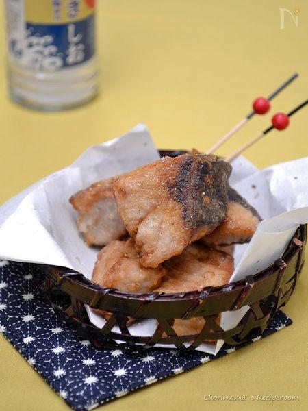 ブリのにんにく天塩山椒から揚げ