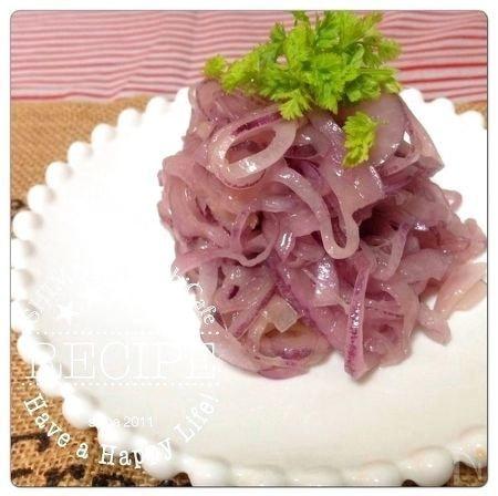 赤穂の天塩で作るイタリア料理 紫タマネギの塩マリネ