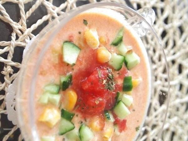 食べるスープ☆トマトヨーグルトスープ