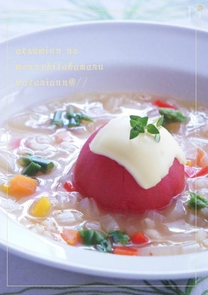 まるごとトマトのコンソメ大麦スープ