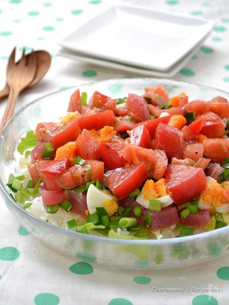生トマトドレッシングのちらし寿司