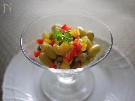 青大豆のサラダ