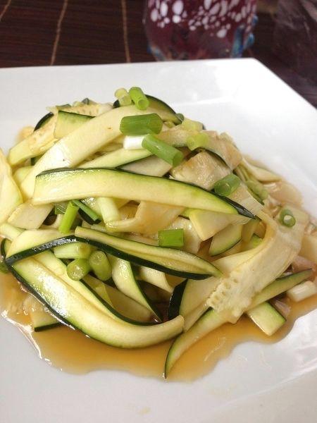 ズッキーニの中華風冷菜