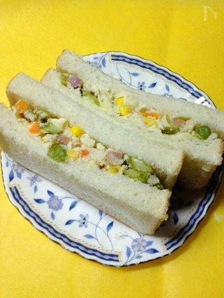 ヘルシーおからサンドイッチ