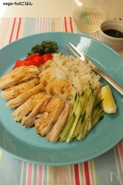 炊飯器で♪シンガポールチキンライス