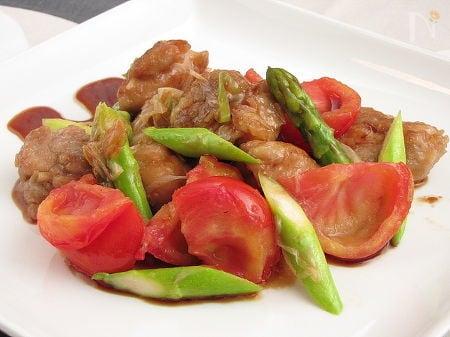完熟トマトと鶏のさっぱり和え