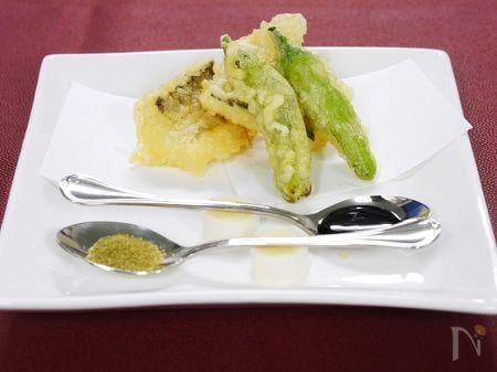 米粉仕上げの穴子天ぷら
