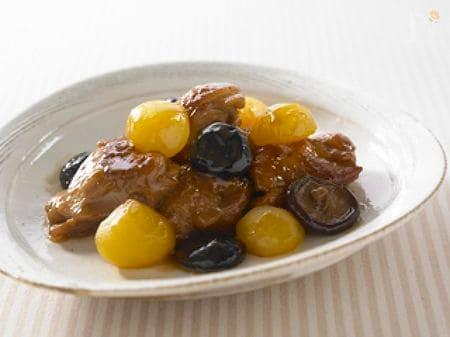 鶏肉と栗としいたけのうま煮