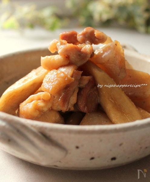 フライパンで10分☆鶏とごぼうの炒り煮