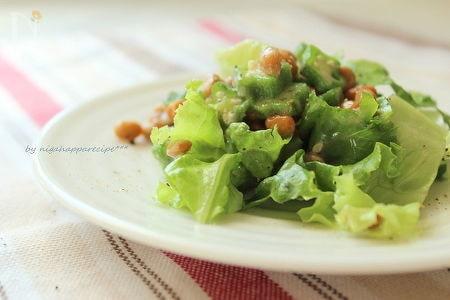 胡麻の香り☆納豆とレタスのサラダ