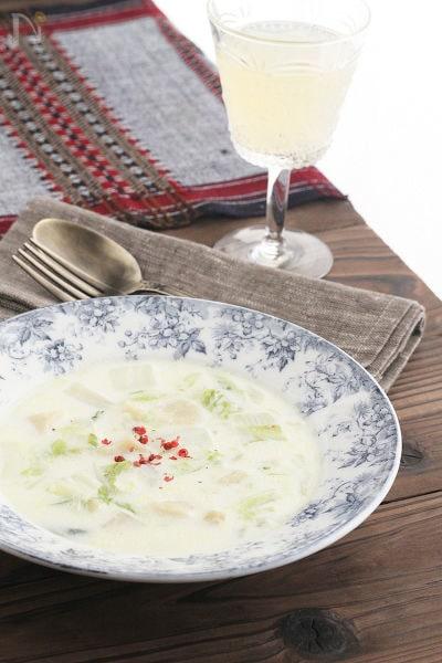 帆立と白菜のチャウダー