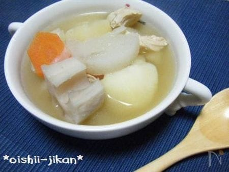 ささみと根菜のスープ