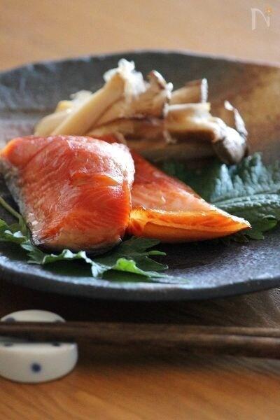 鮭のみりん漬け。