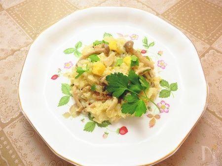 さつま芋と茸とブルーチーズのリゾット