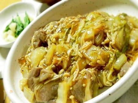 塩豚と白菜の甘酢あんかけ