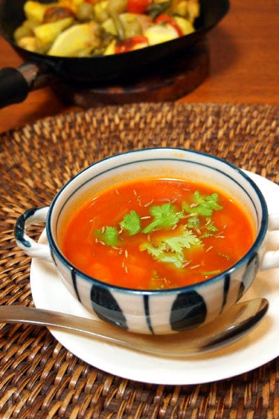 色々トマトスープ