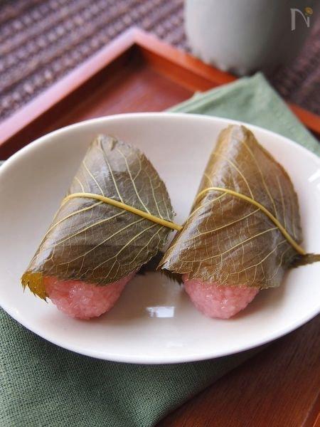 電子レンジで簡単 桜餅 関西風 by えみさん